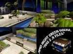 MMD Night Green House DL