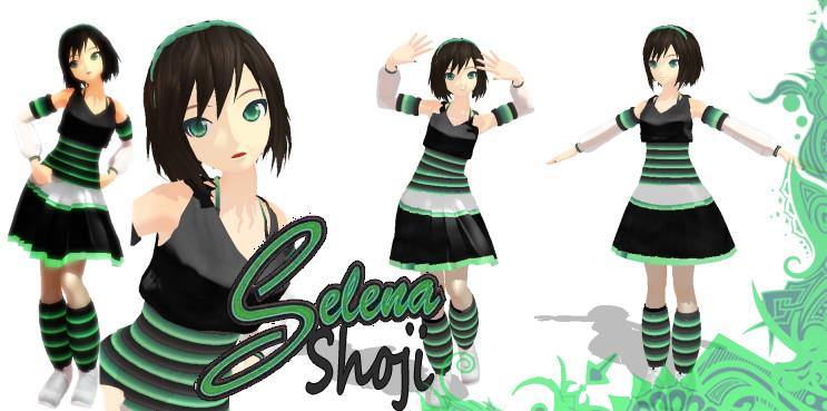 MMD Selena Shoji Model Download by SachiShirakawa