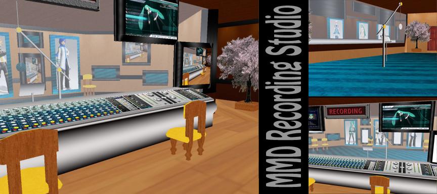 MMD Recording Studio Stage DL by SachiShirakawa