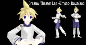 MMD Dreamy Theater Len -Kimono- Download- by SachiShirakawa