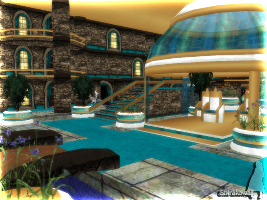 MMD Shirakawa Throne Room Download by SachiShirakawa