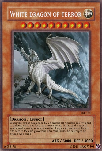 White dragon of terror by isaac77598