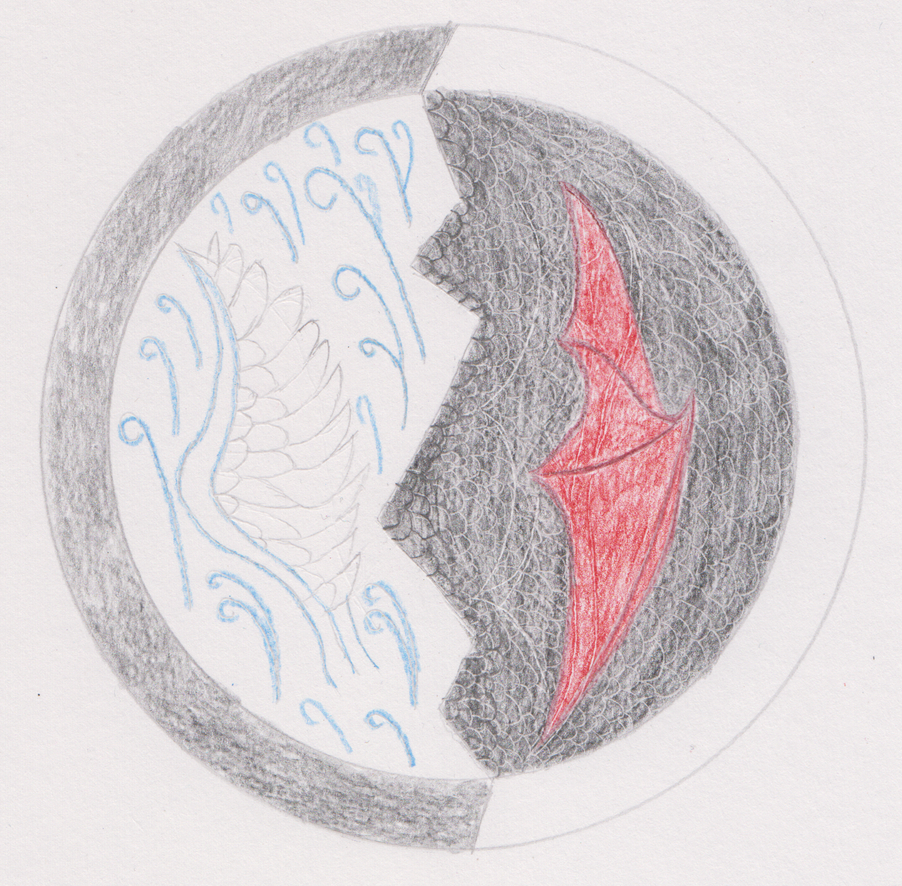 Wind and dragon medallion by isaac77598