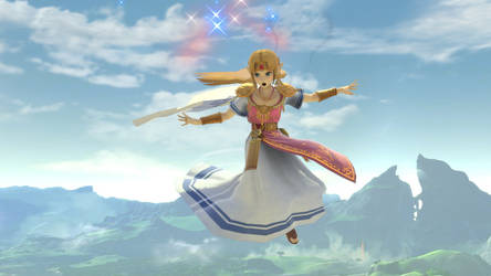 SSBU Princess Zelda magic wave by isaac77598