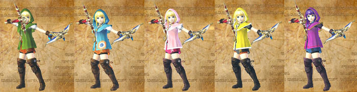 Linkle's costumes by isaac77598