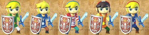 Toon Link's costumes by isaac77598