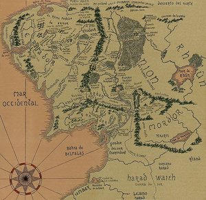 middle earth map by lord of the rings
