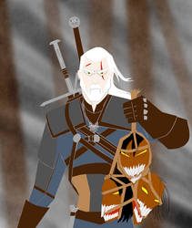 The Witcher (Samurai Jack style)