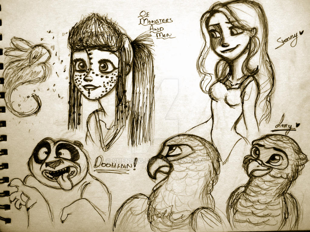 Them Random Doodle Attacks 3 by Shenny-Shendelier