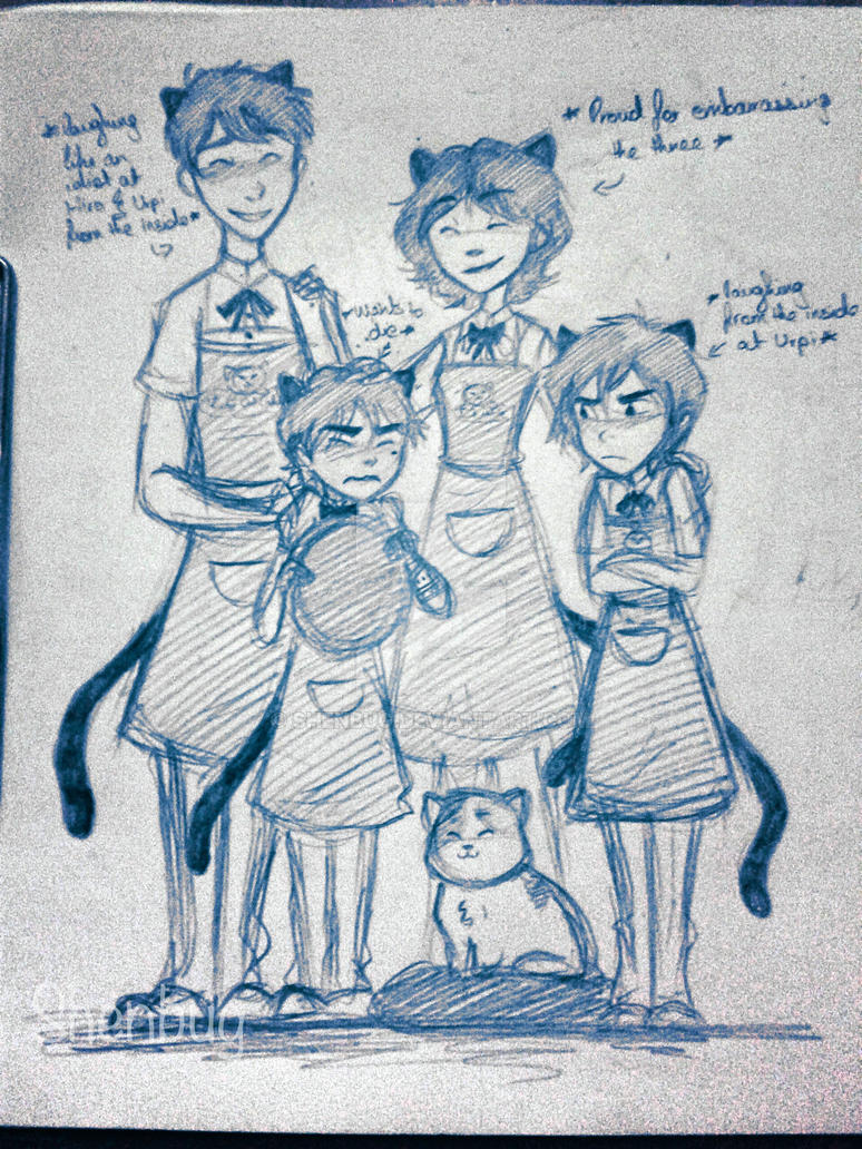 BH6: Lucky Cat Cafe Crew by Shenbug