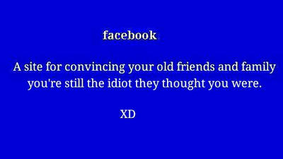 What Facebook is for :P by DreadedOne131
