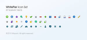 WhitePier Icon Set by mayack
