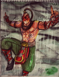 Drawing of Lee Sin - League Of Legends by GuillermoAntil