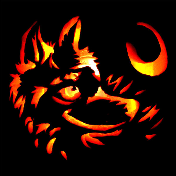 Easy pumpkin carving patterns wolf
