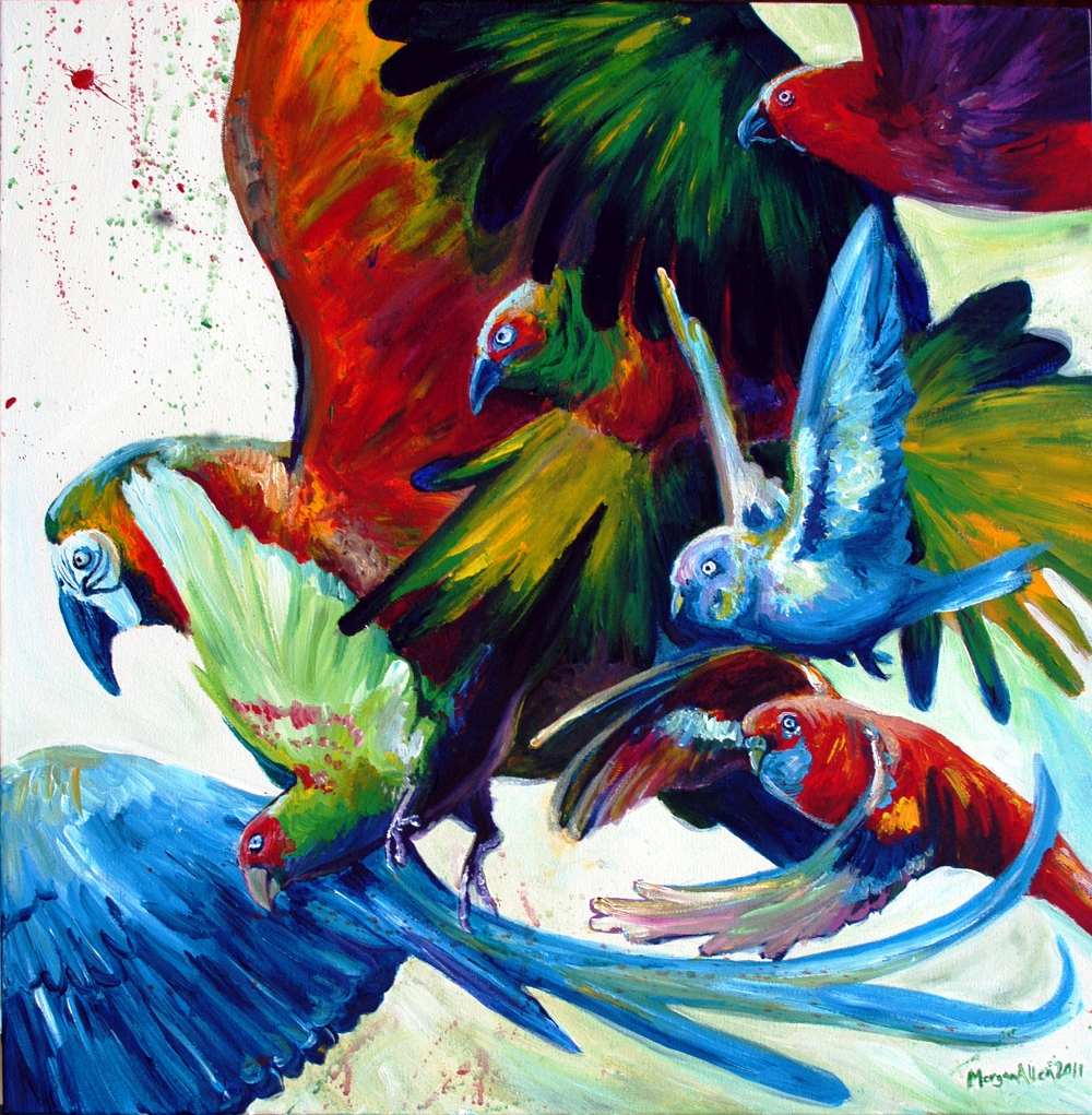 Prismatic Parrots by caroro