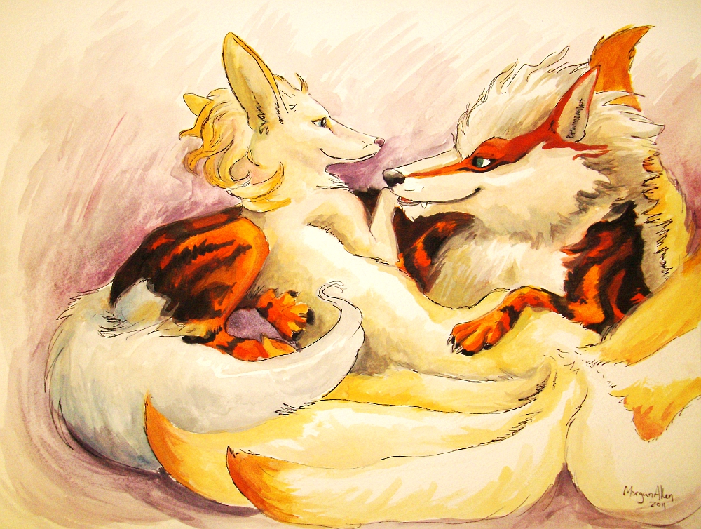 Ninetails and Arcanine...