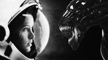 Anna Lee Fisher vs Alien