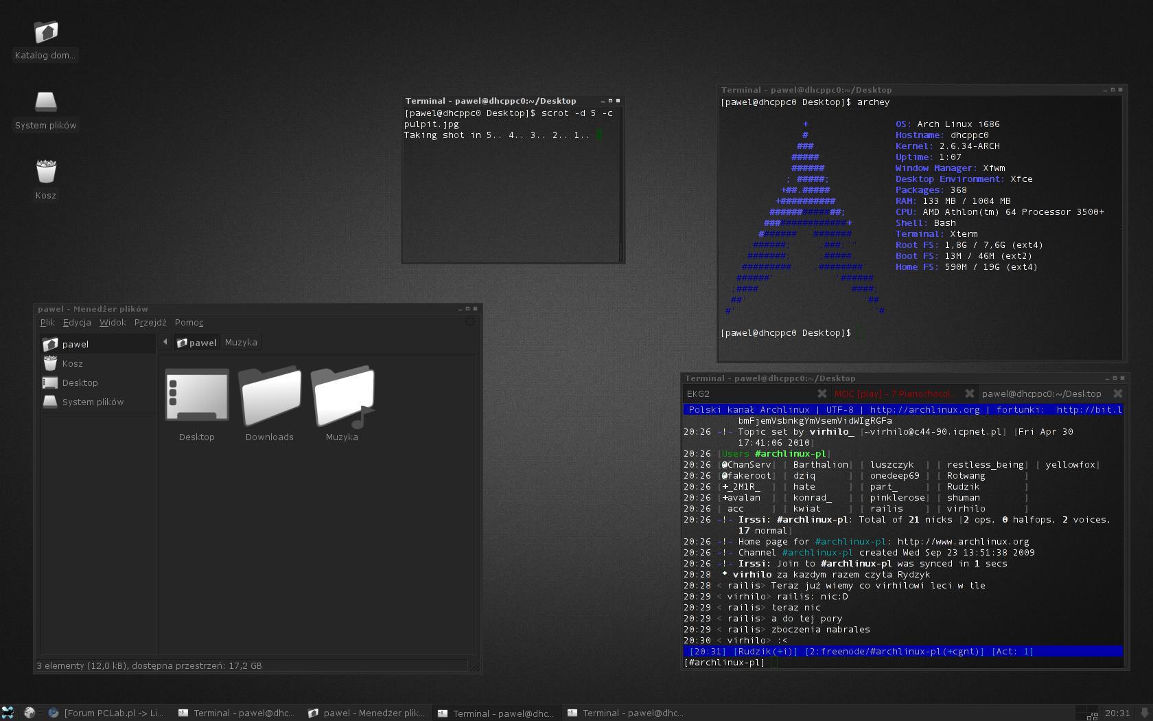 Arch Linux XFCE