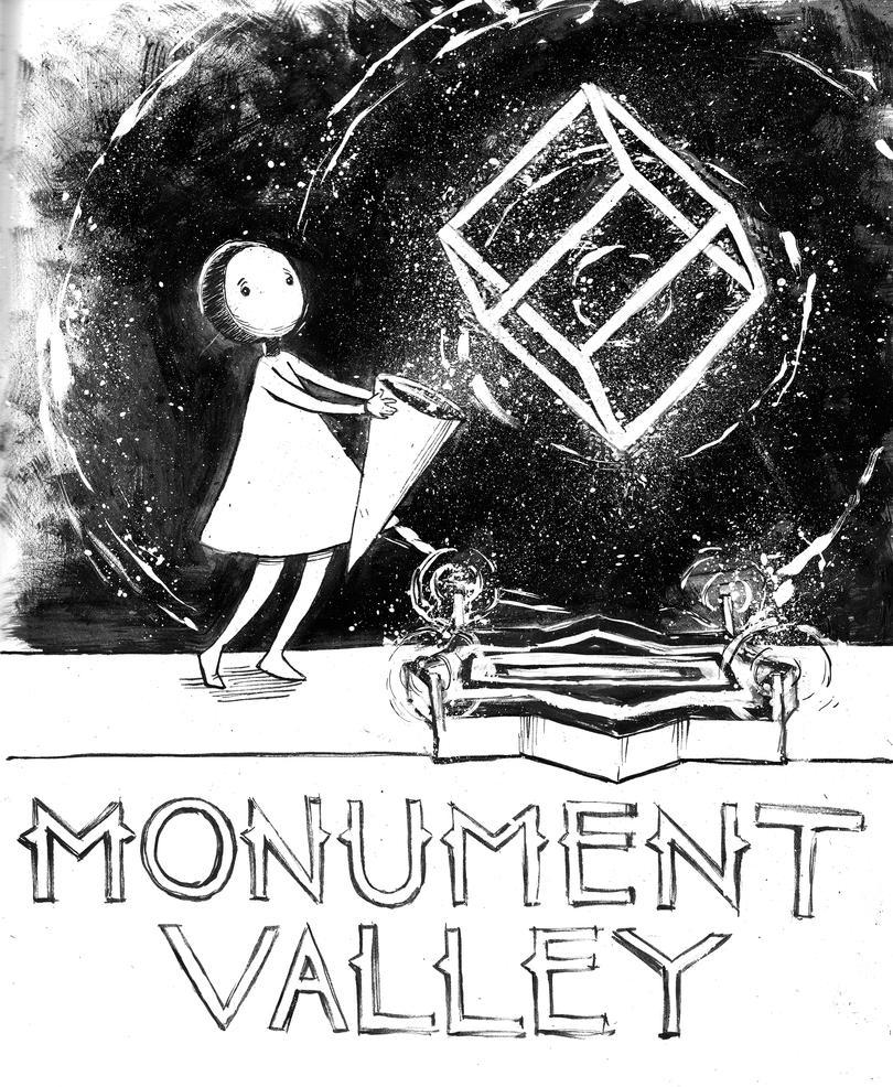 Inktober Day 03 Monument Valley by NMEZero