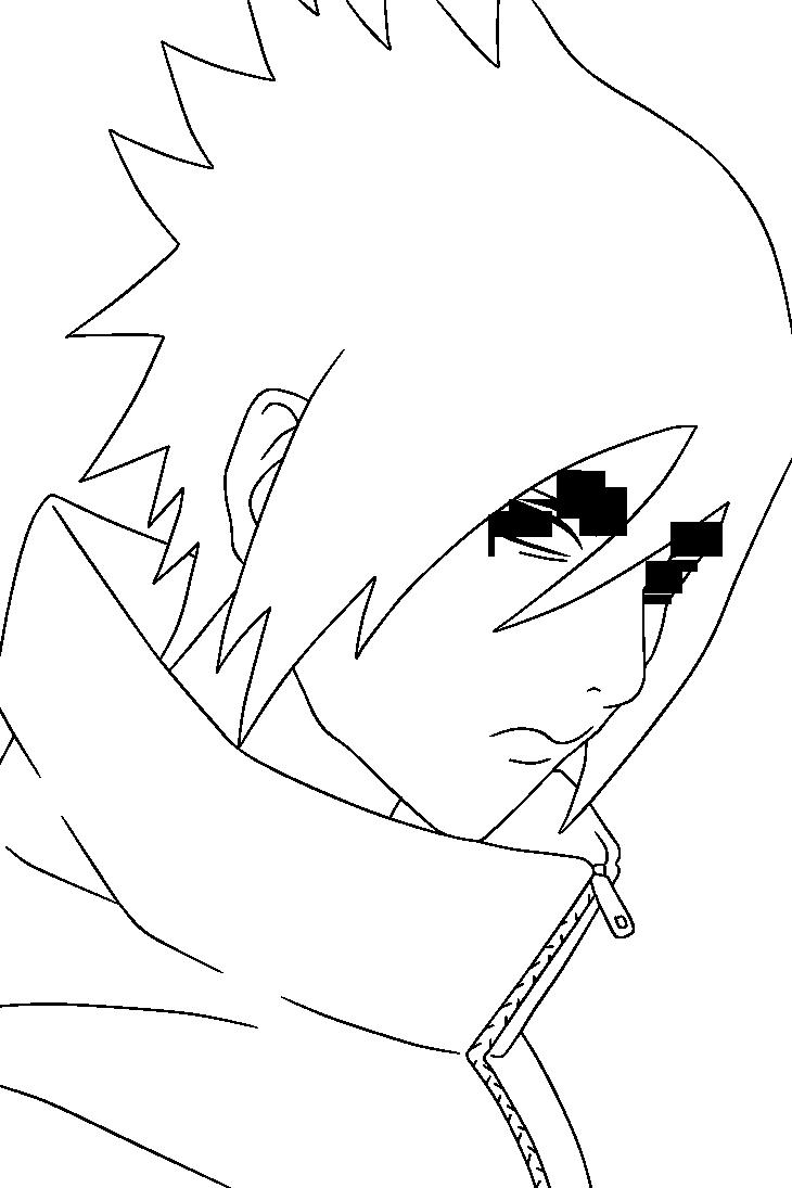 Sasuke Lineart : Sasuke uchiha lineart by dashasama on deviantart