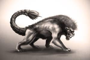 Prehistoric Manticore by Cthulhusaurus-Rex