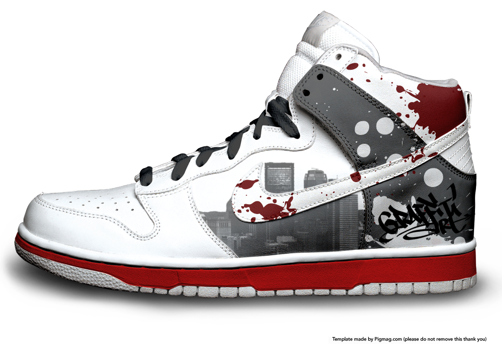 outlet store a13ec 9b932 denmark custom nike dunk high top by unkut on deviantart 481af 39e99