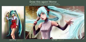 Hatsune Miku Draw this again