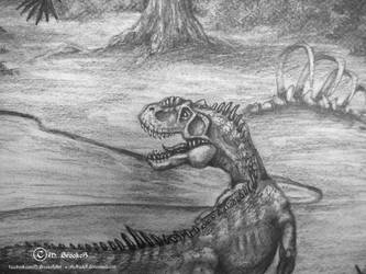 'Colorado: Late Jurassic' ECU Allosaur by she1badelf