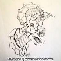 Robo-Ceratopsian Triceratops Sketch