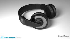 Sennheiser HD 205 Headset 3D Model