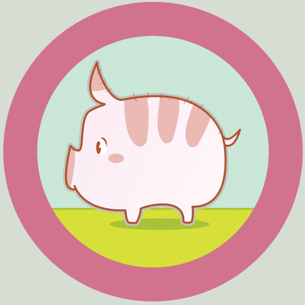 Cute Pig Logo Vector Cute Pig by Ozma0