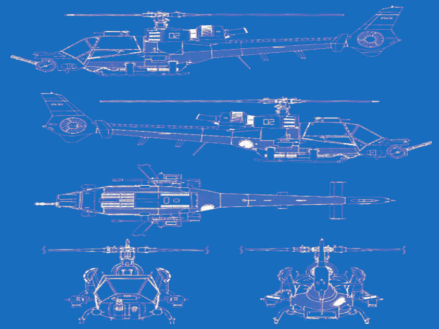 blue thunder blueprint by HurricanePolymar