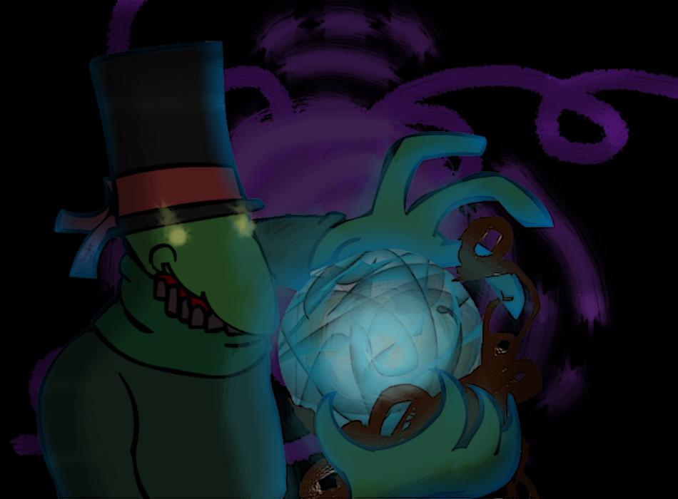 A cristal ball in a Dark space by Bazodan