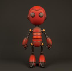 Robot by RitikRaj-3d