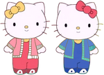 Hello Kitty and Mimmy Wears Outfit (PNG)