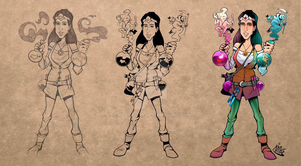 Cartoon process by markador