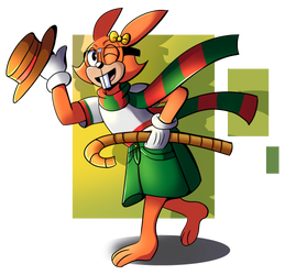 Daffy with a Hat and Bamboo Cane