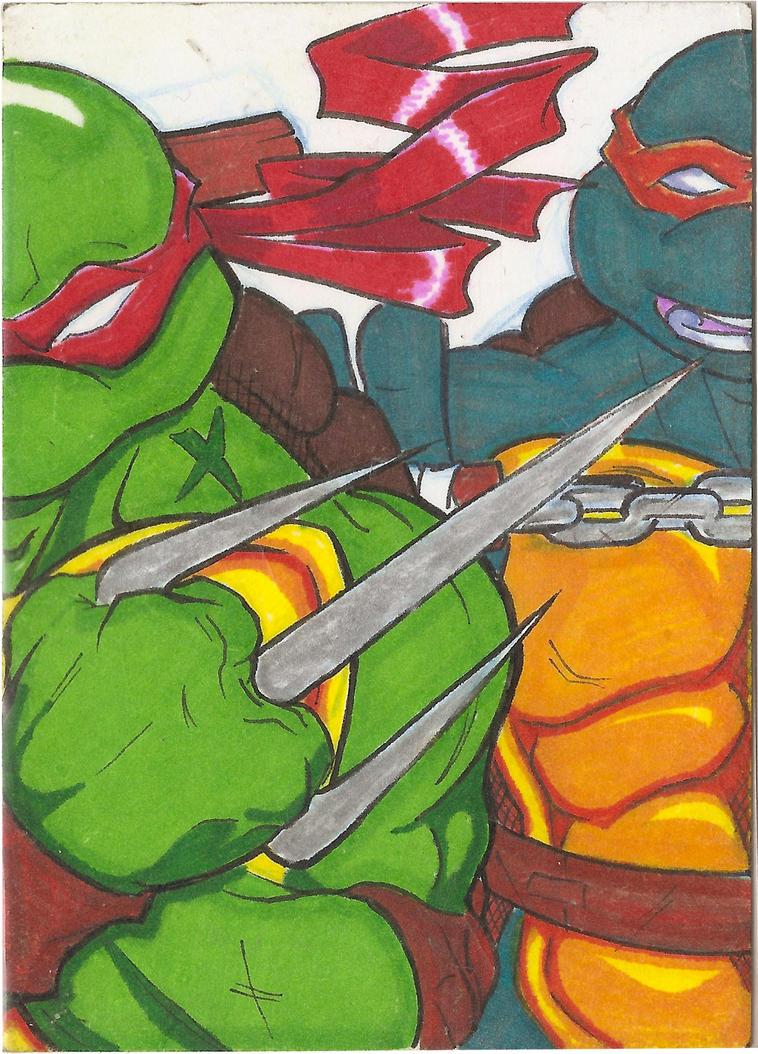 Raph-Mikey Card by Marc-El