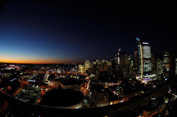Sydney on a Fisheye Lens by kazzzzz