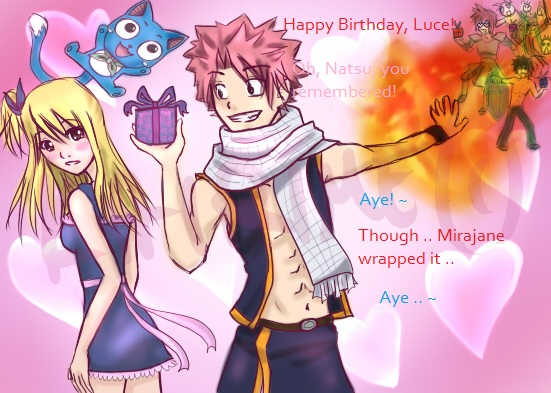 Fairy Tail Happy Birthday Lucy By Kairime On Deviantart More than 500 original birthday messages, birthday wishes, and a free birthday song with your happy birthday. fairy tail happy birthday lucy by