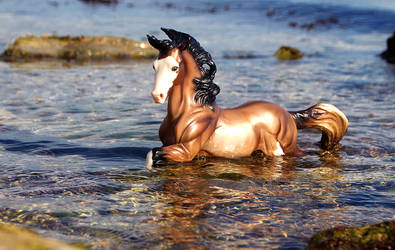 Bathing Poseidon by SkyDarko