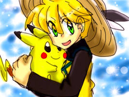 _Yellow and Pika_ by Umbra-Flower
