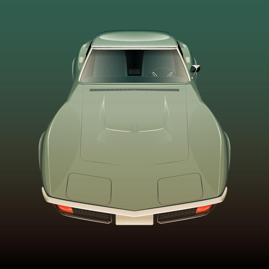 Corvette-Stingray by Fresco24