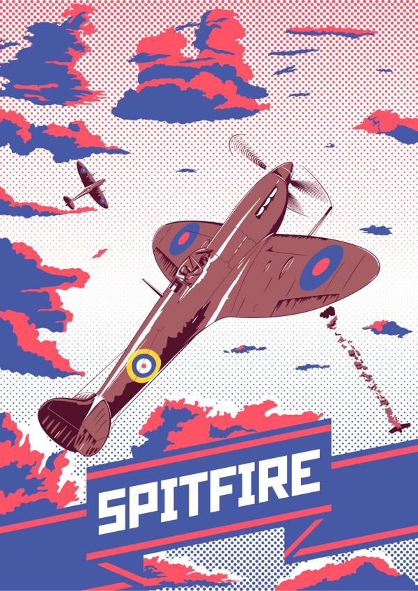 Spitfire by Fresco24
