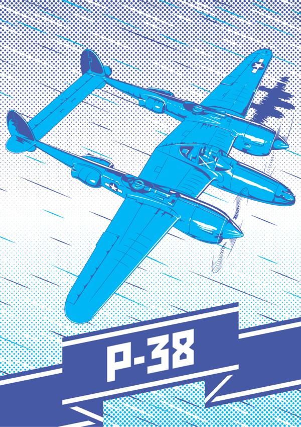 P-38 Lightning by Fresco24