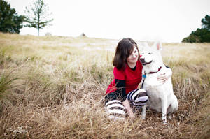 Just a girl and her dog, Bolt. by KayleeOliverCosplay