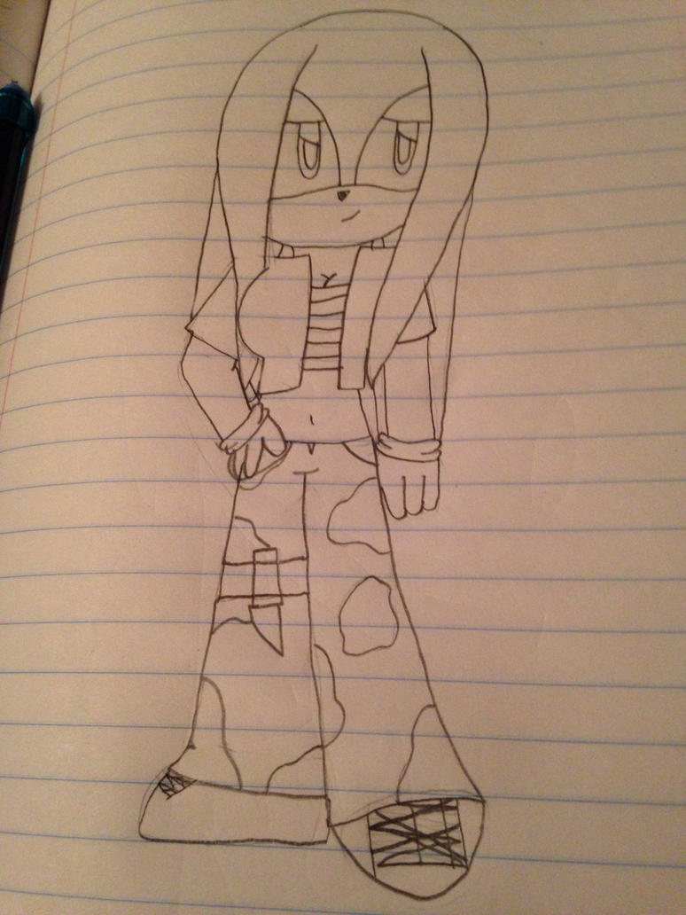 Pose practice #1/possible new art style by ShadAmyfangirl129