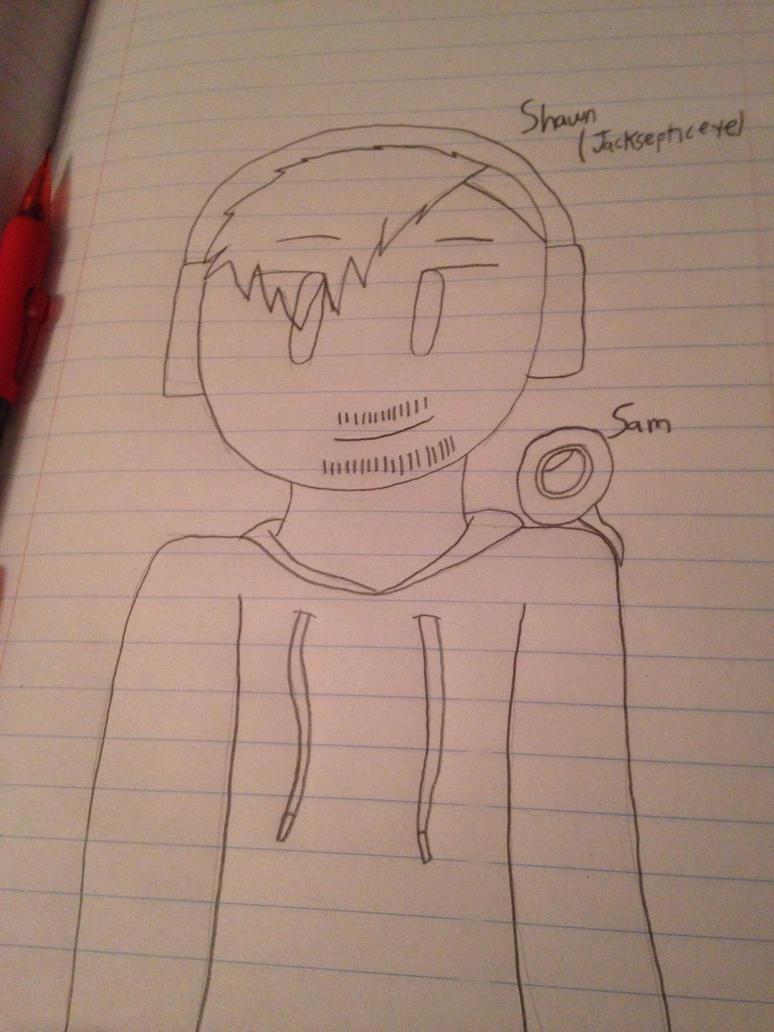 Youtuber fanart #1 (Jacksepticeye)  by ShadAmyfangirl129