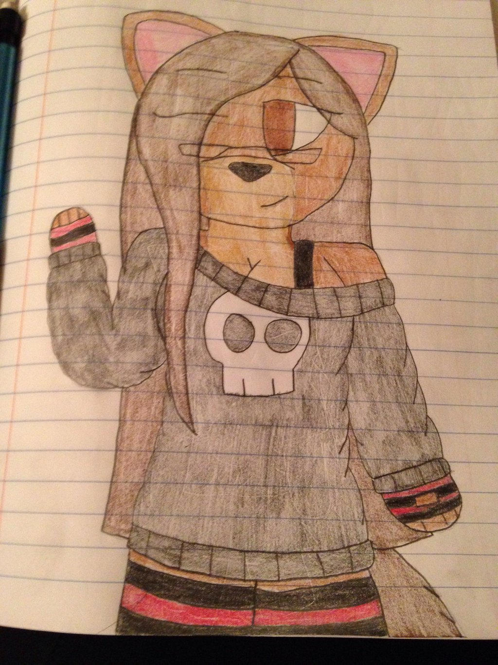 Anthro me! (New outfit design)  by ShadAmyfangirl129