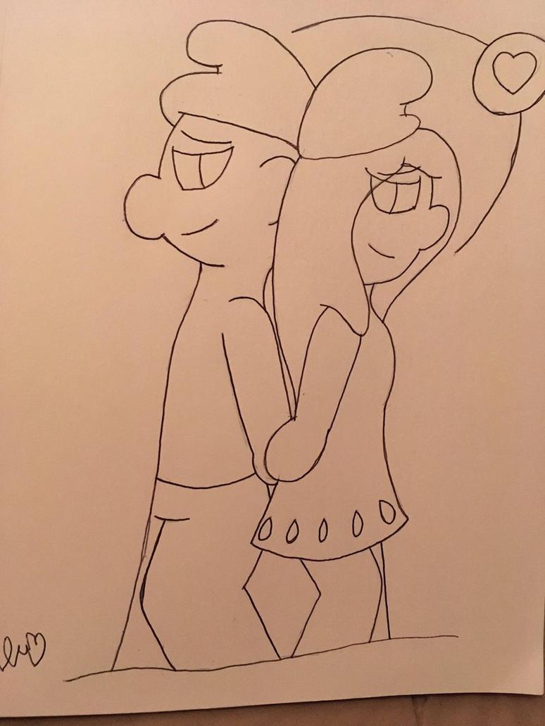 Hefty Smurf x Smurfette by ShadAmyfangirl129